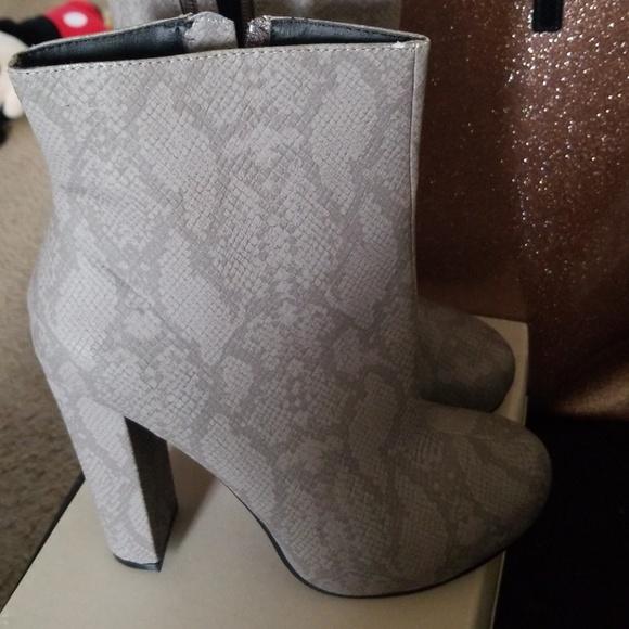 78d6718f0e3 Michael Antonio Shoes   Grey Snakeskin Boots   Poshmark